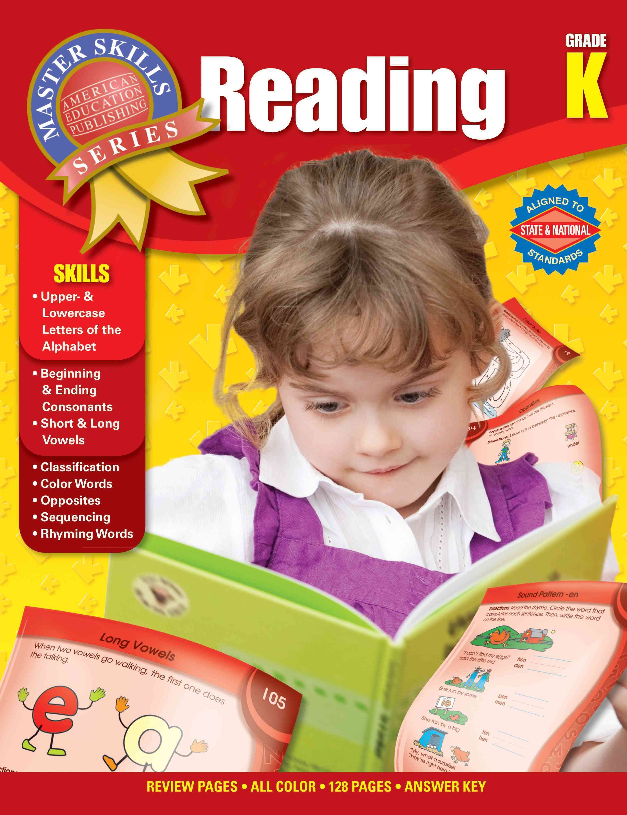 Reading Grade K By Carson-dellosa Publishing (COM)/ American Education Publishing (COR)